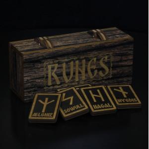 Комплект скандинавских рун в коробке, прямоуг