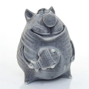 Кот толстый с рыбой (авторск.)