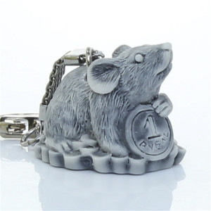Крыса (крыска с рублём) / брелок